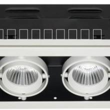 供应LED嵌入式格栅射灯 2*9w