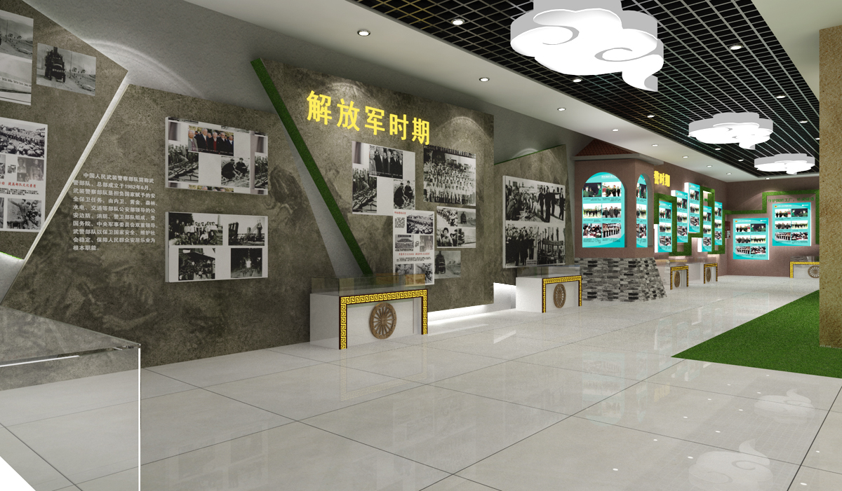 西安部队荣誉室设计装修公司图片|西安部队荣誉室
