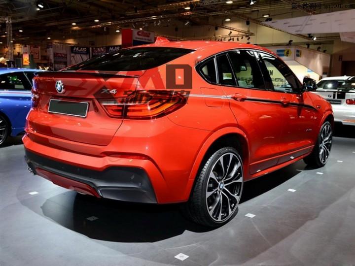 供应bmw宝马x4改装碳纤维尾翼内饰排气
