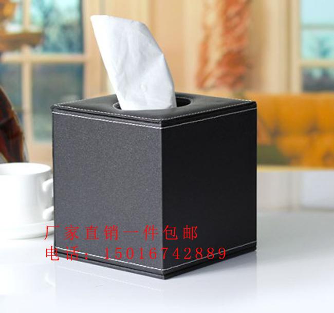 供应河北厂家直销酒店客房皮具餐巾纸盒