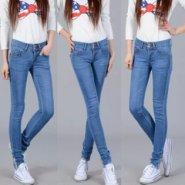 最便宜时尚女式修身牛仔裤批发图片