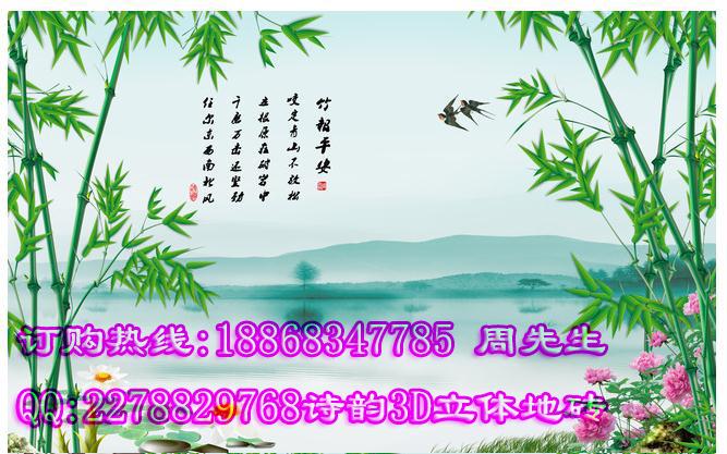 供应杭州西湖3d效果水上戏水风景图壁画,西湖3d立体山水风景画背景墙