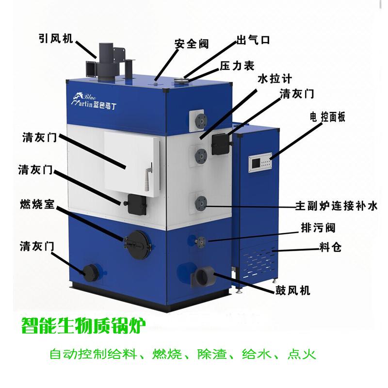 生物质锅炉颗粒料蒸汽发生器蒸汽机批发