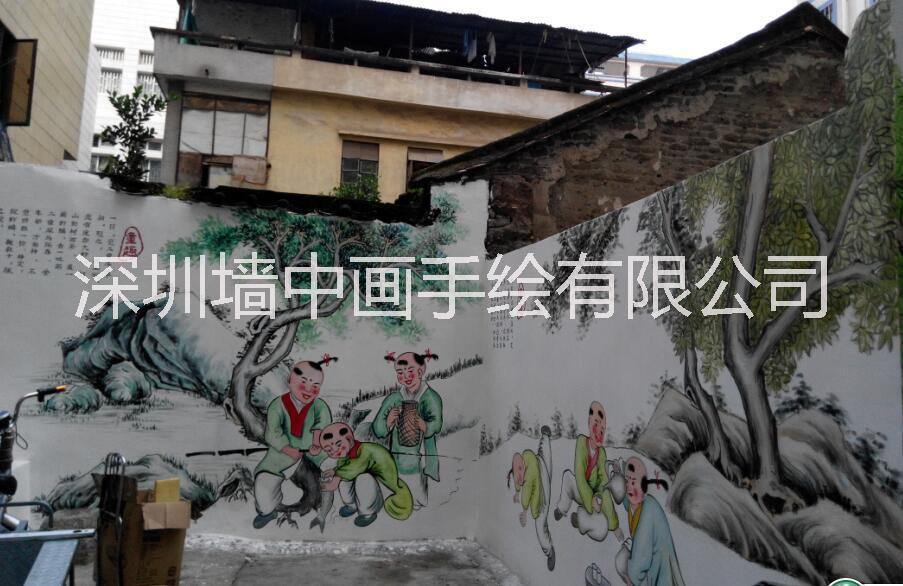 供应中国梦文化墙彩绘弘扬中国文化,实际中国梦想,深圳手绘墙