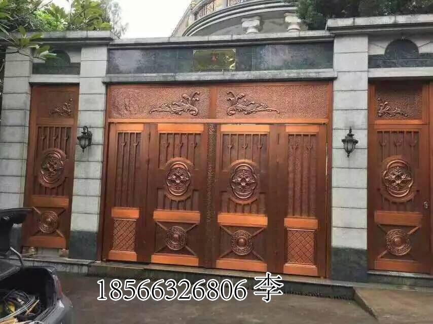 聚福龙轻奢铜门、工程铜门设计订做公司