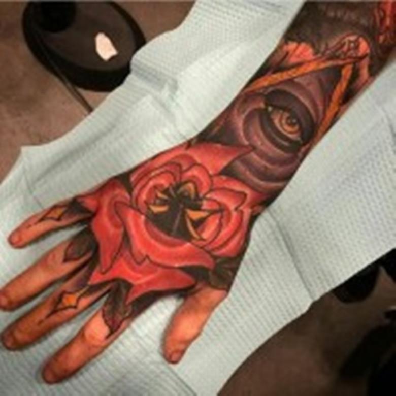 义乌手背,小腿纹身专业的纹身店报价图片