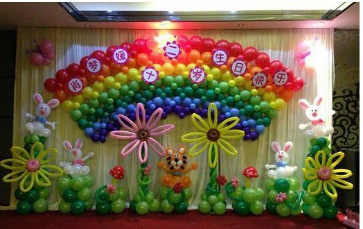 供应气球布置,宝宝百日宴布置,宝宝满月酒布置,生日PARTY布置