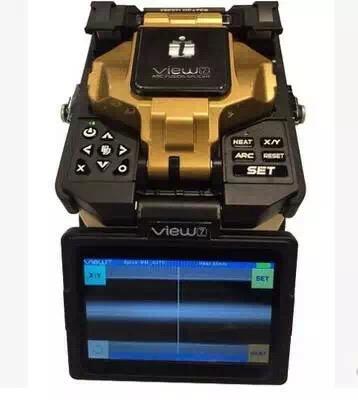 供应广西韩国易诺V3单芯光纤熔接机 三合一夹具,熔接7秒 加热30秒