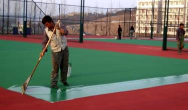 供应用于地坪施工的国家标准篮球场地胶材料|厂家施工坚硬耐磨,渗透力强