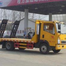 供应豪沃蓝牌挖机平板运输车CLW5040TPBZ4程力威平板运输车