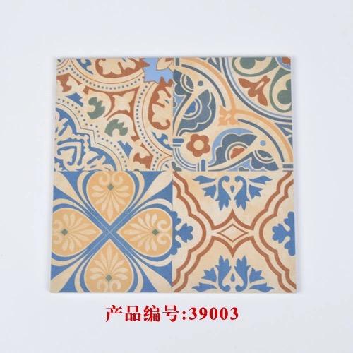 供应用于室内地砖瓷的欧式小花砖方砖配套小砖瓷砖小
