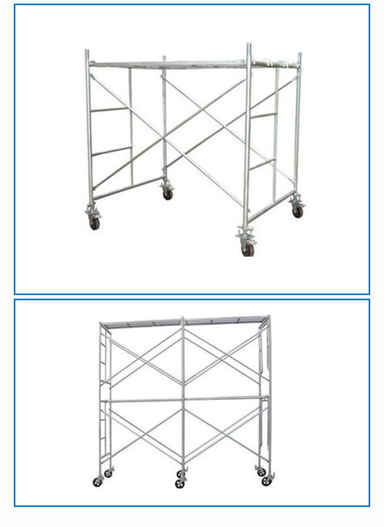 供应用于建筑工地施工的天津移动梯式门式脚手架生产厂家,天津脚手架厂家现货供应批发零售价格