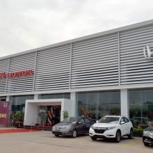 广本4s店装饰高低级吊顶铝天花 欧佰铝单板天花厂家批发