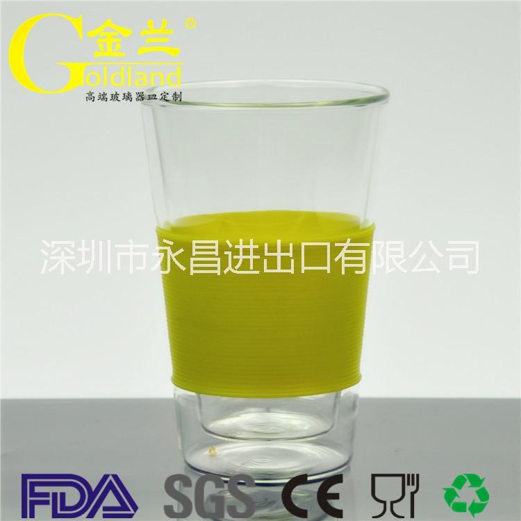 厂家直销高硼硅耐热双层玻璃水杯耐高温杯茶杯功夫杯咖啡杯