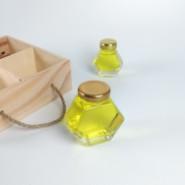 菱形蜂蜜玻璃瓶图片