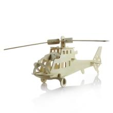热销礼品3d木制立体拼图模型 供应飞机模型战斗机