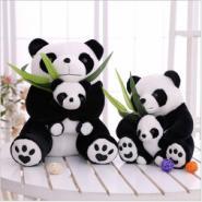 母子熊猫公仔图片