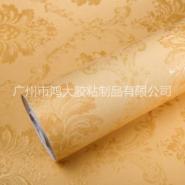 欧式大马士革加厚防水 自粘墙纸 3D立体压纹PVC自粘壁纸