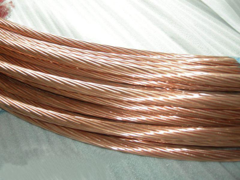 供应防雷接地铜覆钢系列铜绞线、铜圆线、铜扁线接地材料分类价格