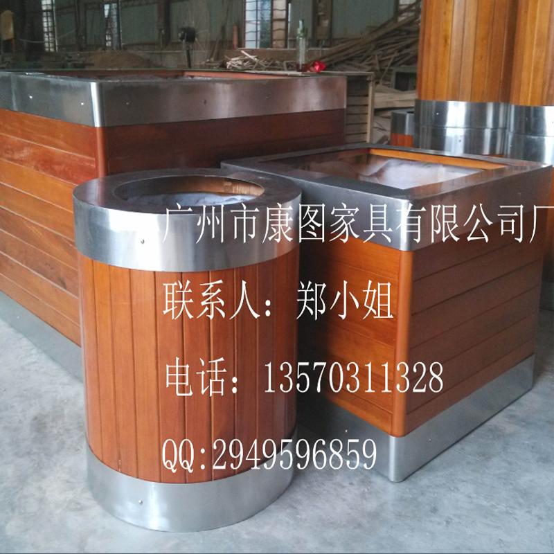 钢木组合花箱 大型道路花槽销售
