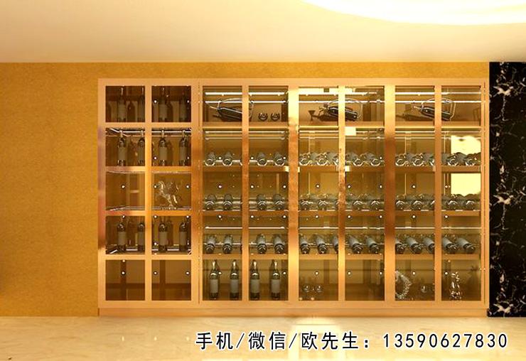 不锈钢酒柜 恒温恒湿红酒柜  不锈钢红酒柜 红酒架 来图定制 尺寸定制