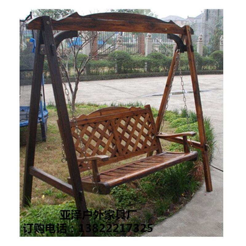 户外木质秋千椅 景区仿古秋千椅 双人秋千椅 休闲摇椅