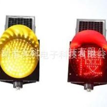 300太阳能黄闪红慢灯 交通警示灯 太阳能黄闪警示灯 厂家直销