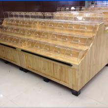 佛山廠家批發板式面包架 木質水果堆頭  木質干果架 l高檔散裝涼果架圖片