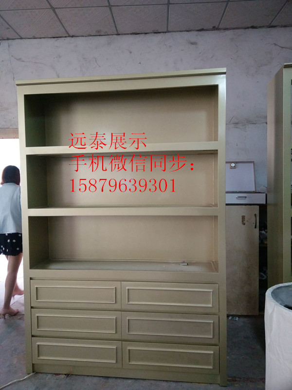 银色带金粉服装店面展示背柜展示柜