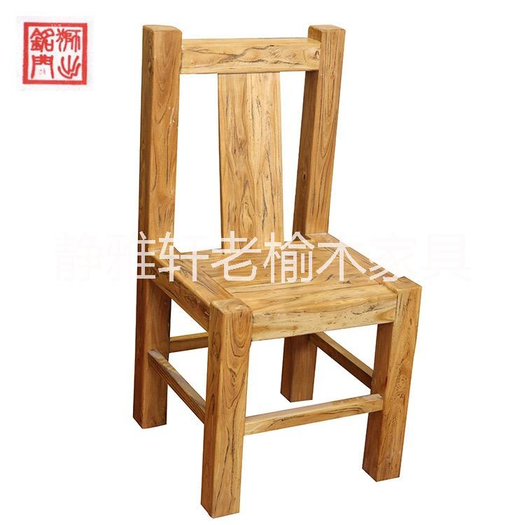 榆木家具白茬仿古实木办公椅子 办公学生椅 老榆木家具定制靠背椅 韩式餐椅.单人椅.实木椅