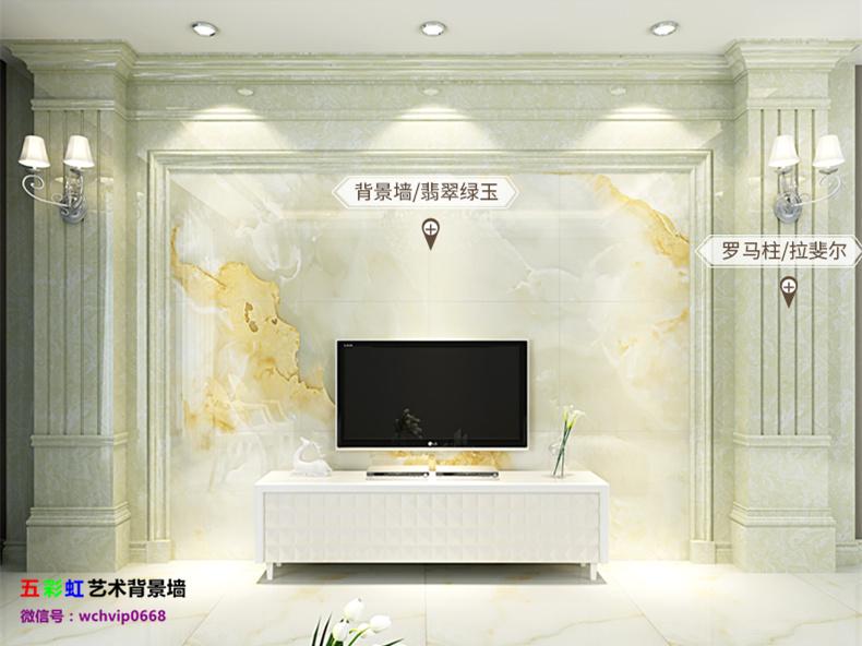 欧式罗马柱高档室内客厅背景墙定制