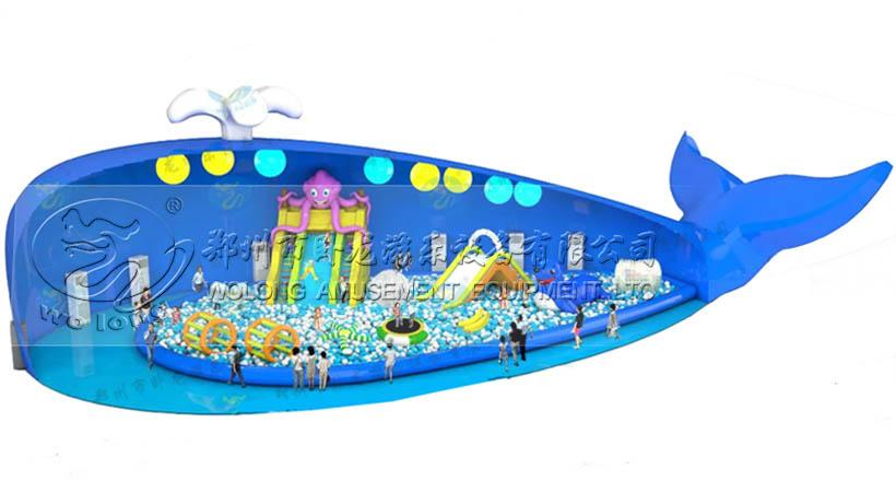 鲸鱼岛乐园趣味百万海洋球充气游乐鲸鱼岛乐园趣味百万海洋球充气游乐