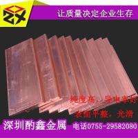 供应高纯度t2红铜板 模具用紫铜板 12mm 20mm