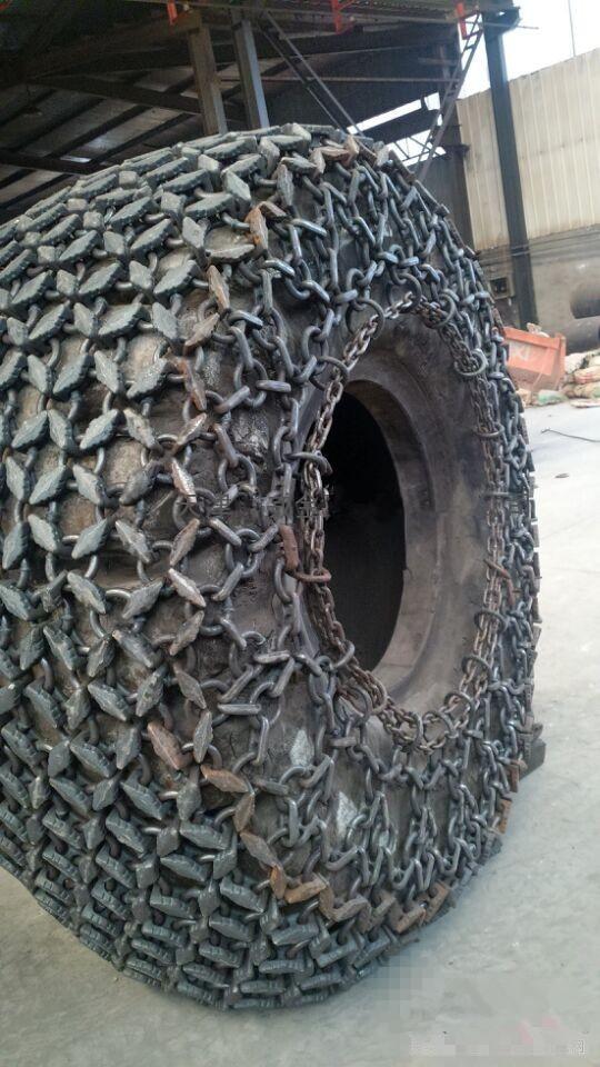 天津天威轮胎保护链 1000-16型铲运机保护链20型铲运机轮胎保护链  隧道机防滑链  装载机防滑链