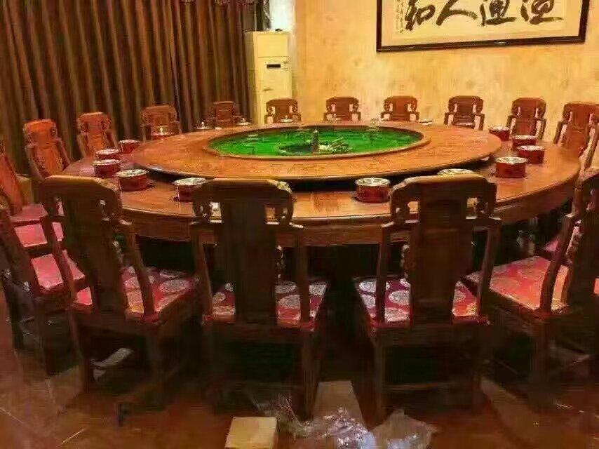 陕西火锅桌电动餐桌餐桌餐椅批发