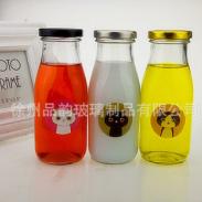 马口铁盖星巴克玻璃奶瓶图片