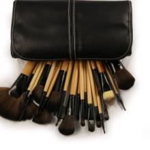 24支原木色化妆套刷女孩日常必备的美妆日化工具 24支原木色化妆刷图片
