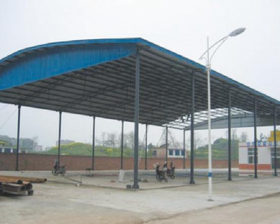 钢结构厂房风管支架