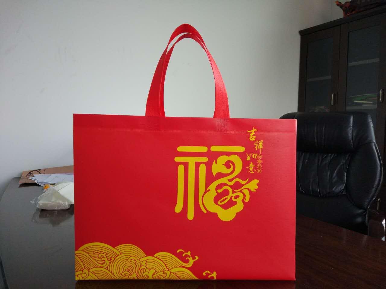 现货供应覆膜无纺布袋环保袋手提覆膜新年礼品袋环保袋节日福袋 现货