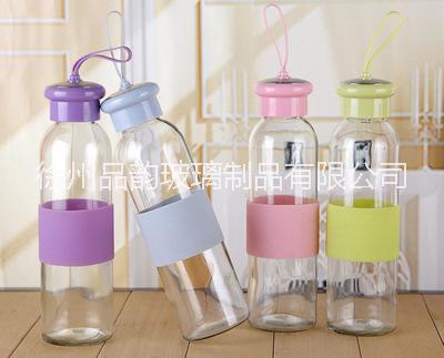 厂家直销哇胶套玻璃杯酷帅盖玻璃水杯批发广告促销礼品玻璃杯 玻璃茶杯