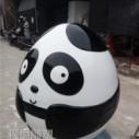 玻璃钢卡通熊猫公仔图片