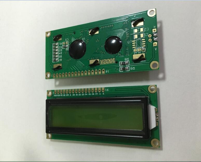 lcd1602 液晶显示屏  5v 黄绿蓝屏