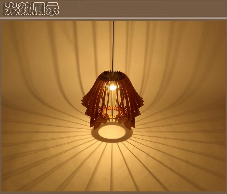 ufo飞碟木艺吊灯可爱二次元灯具 ufo飞碟木艺吊灯可爱二次元吊灯