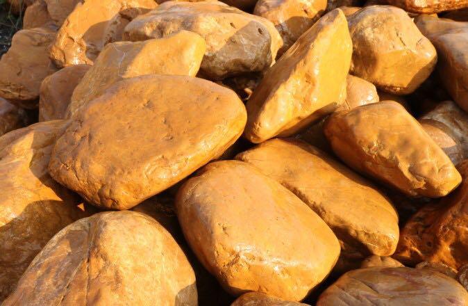 正宗黄蜡石 精品黄蜡石 天然黄蜡石