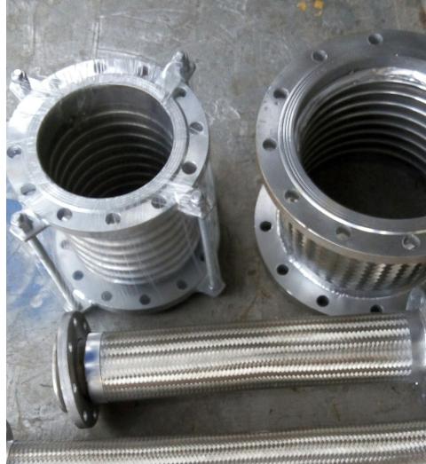 机械设备金属软连接-法兰金属软管-304金属软接 法兰不锈钢金属软连接