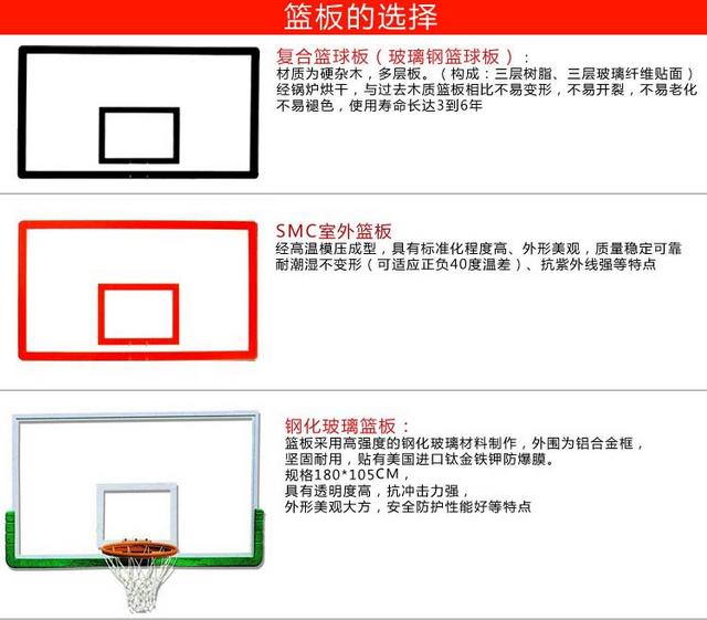 篮球板价格,篮球板尺寸篮球板规格,篮球架厂家直销做工精良