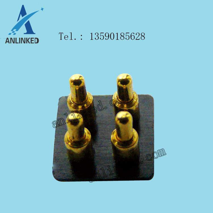 pogo pin4pin探针连接器间距2.54mm
