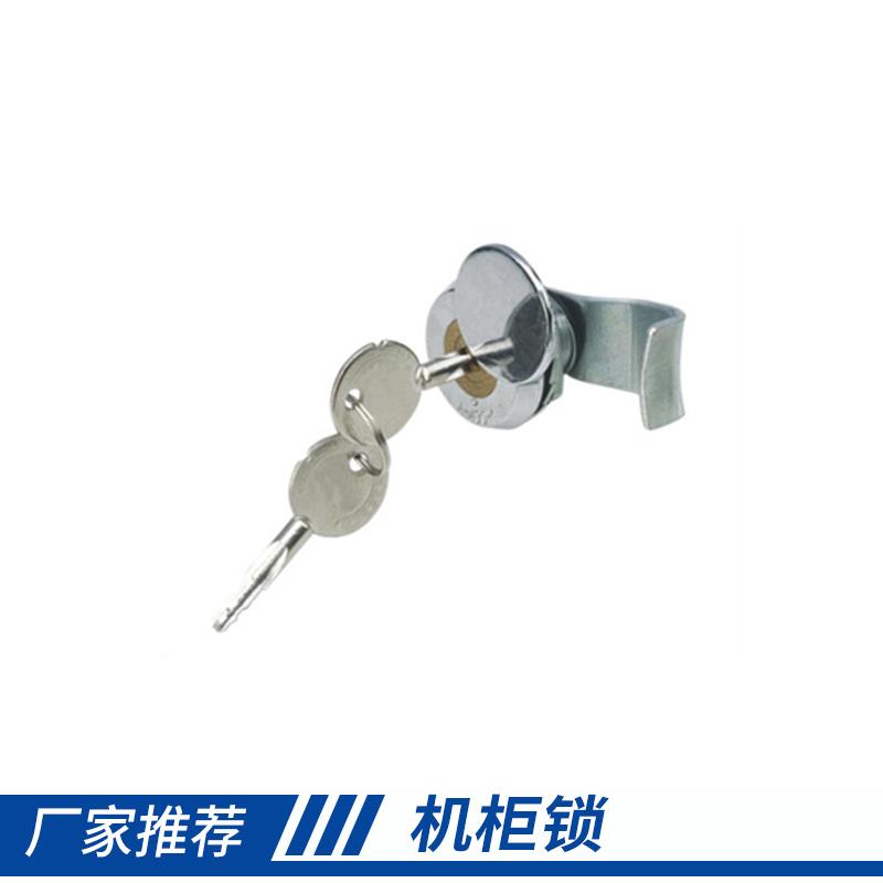 惠州广久锁具机柜锁 亮铬锌合金锁体、铜芯转舌十字锁厂家直销