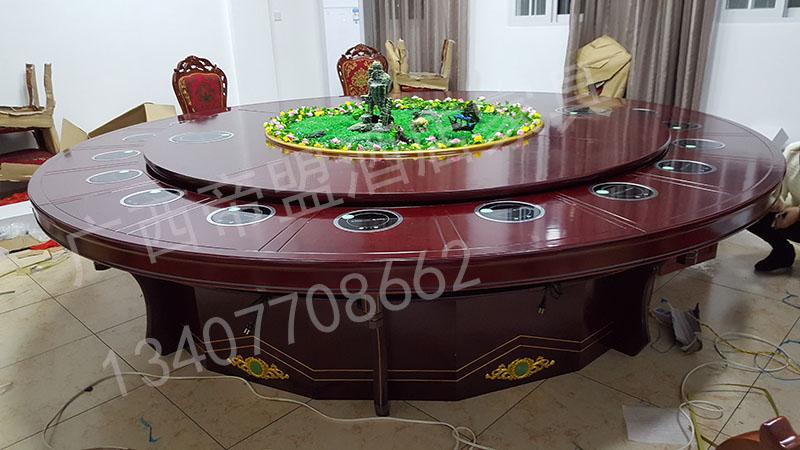 南宁电动餐桌价格电动餐桌转盘高档实木电动餐桌定制厂家直销 广西电动餐桌