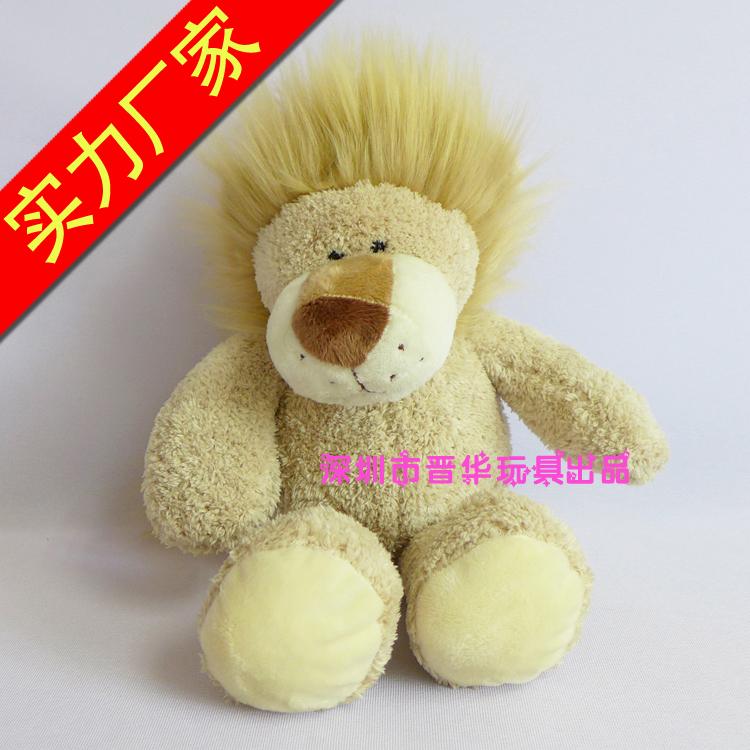 狮子公仔玩具厂家定制坐姿狮子毛绒玩具 狮子毛绒公仔 样板房促销礼品